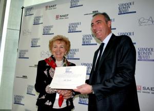 La nostra socia onoraria Ada Grecchi riceve lo STANDOUT WOMAN AWARD