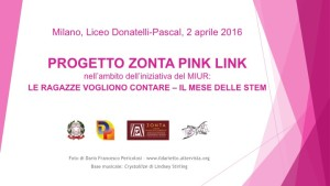 2 aprile 2016: ZC Milano Sant'Ambrogio promuove studi e carriere STEM presso il Liceo Donatelli-Pascal