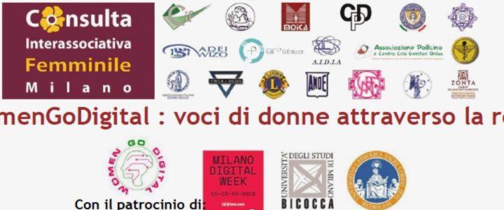 """Milan Digital Week, 16 marzo: Zonta Club Milano Sant'Ambrogio e Zonta e-club of Italy partecipano con una presentazione al seminario """"Womengodigital: voci di donne attraverso la rete"""""""